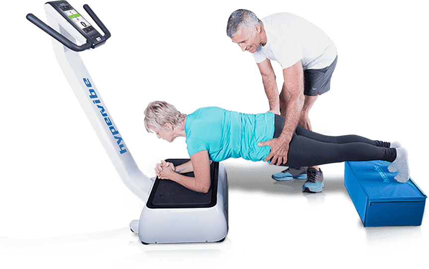 whole body vibration machine banner